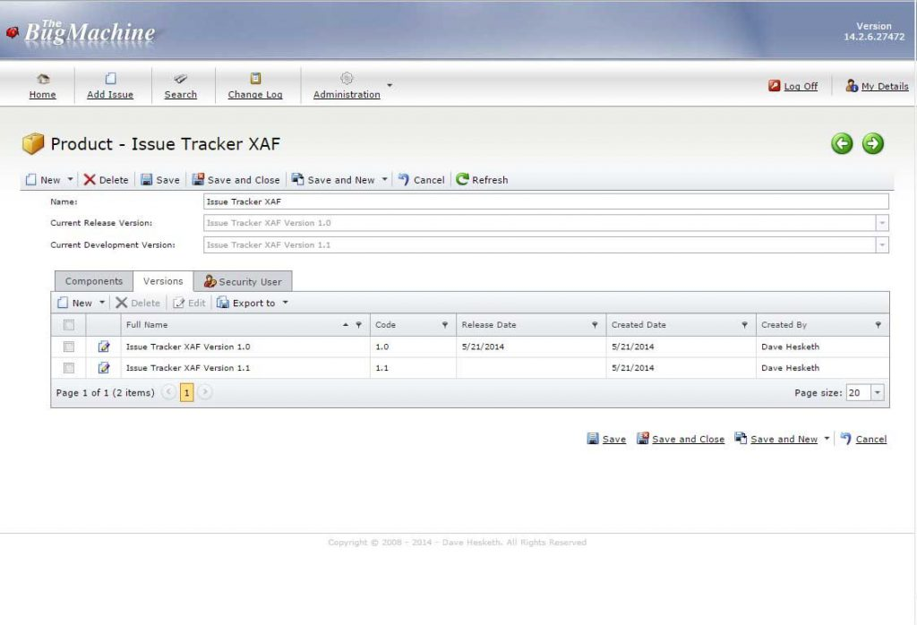 6_IssueTracker_ProductVersions